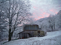 My barn at sunrise